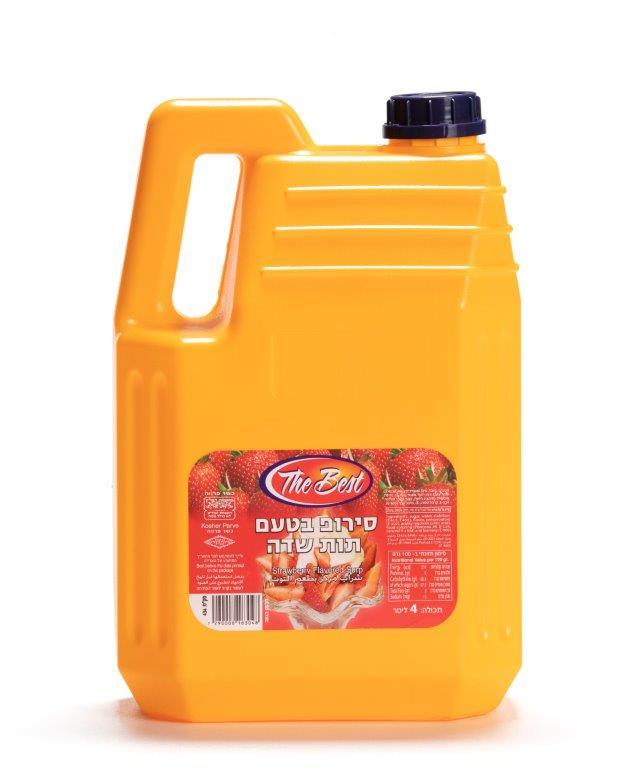 סירופ בטעם תות שדה 4 ליטר  מיטב