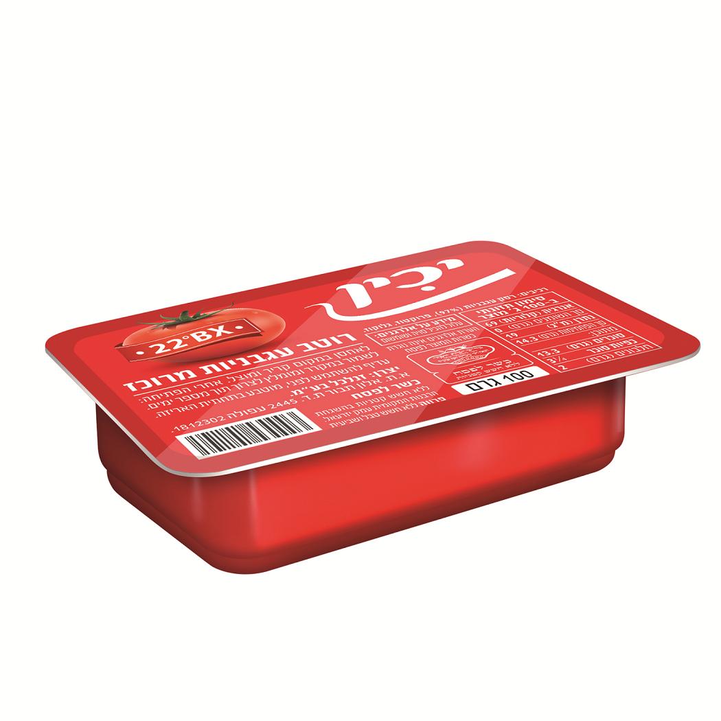 רוטב עגבניות 22% יכין 100 ג'